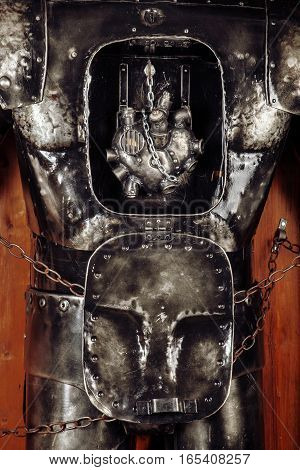 Heart of steel in the robot's chest