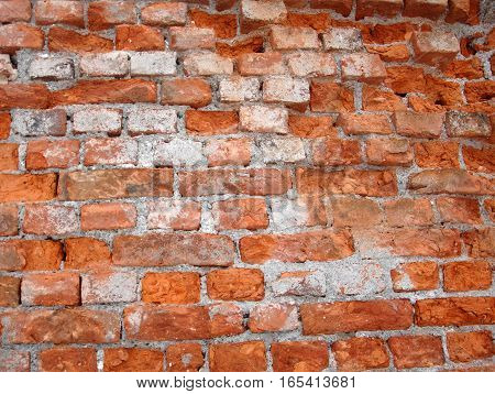 Old Red Broick Wall