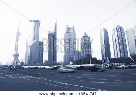 the modern buildings of the lujiazui financial centre in shanghai china.