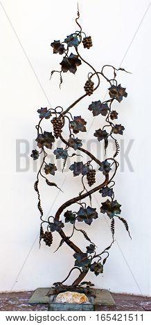 Monument of forged vine in Odessa Ukraine
