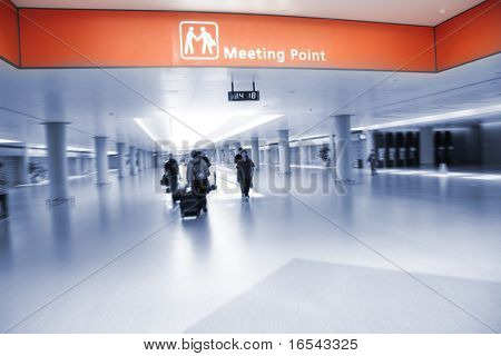 the meeting point of the pudong airport in shanghai china.