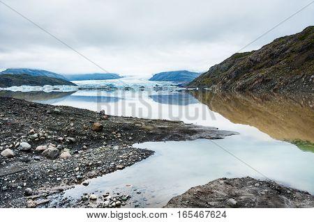 Vatnajokull Glacier In Iceland.