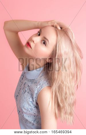 Portrait of a sensual girl with long hair