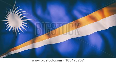 Republic Of The Marshall Islands Flag