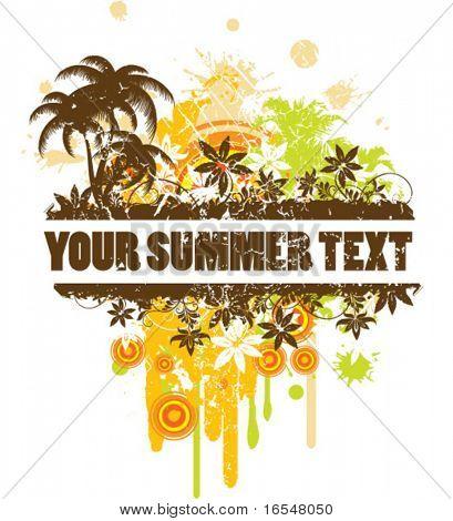 Frontera de verano para el texto.