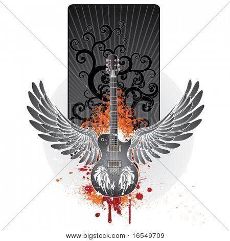 wings guitar emblem
