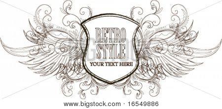 Retro-Schild