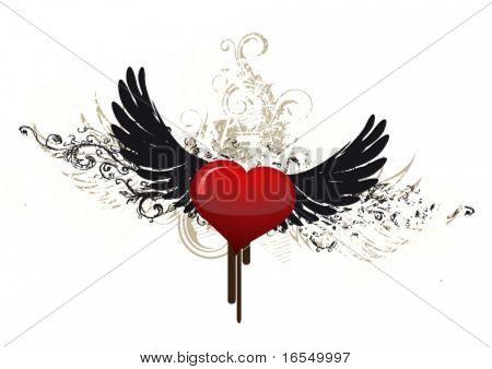 Grunge heart illustration