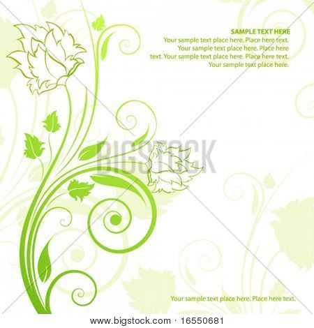 Floral design. Vector illustration