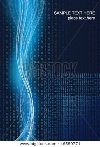 Technology bintary background