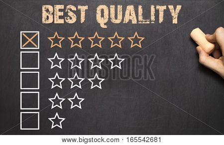 Best Quality Five Golden Stars.chalkboard