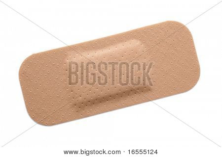 Bandaid adhesive plaster isolated on white