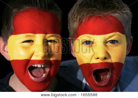 Young Spanish Football Fans
