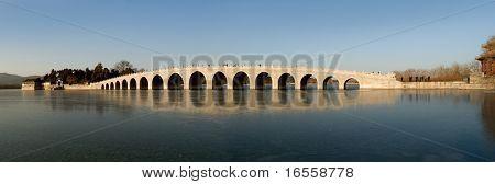 panoramic 17-arc bridge in Summer Palace,Beijing,China