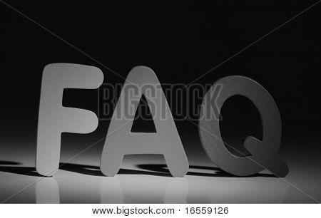 """FAQ"" sign"