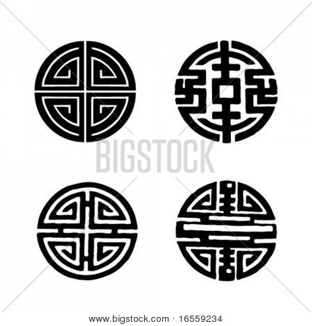 Four Chinese longevity Symbols