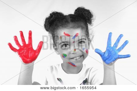 Girl And Paint