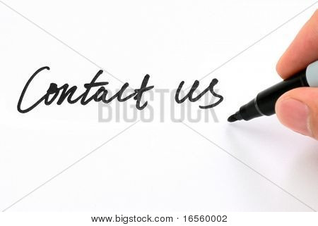 "Pen writing ""Contact Us"""