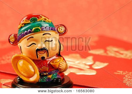Chinese new year decoration--Chinese traditional mammon figure  for celebration of the lunar new year.