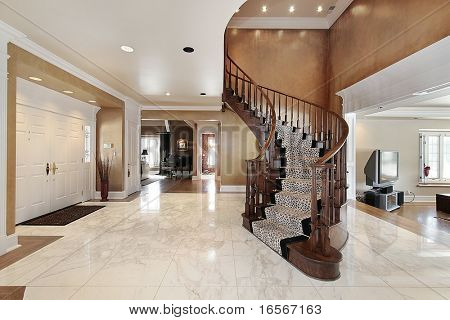 Foyer with stairway