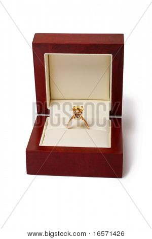engagement ring in a jewel box