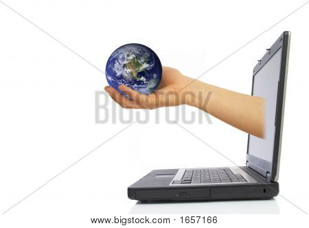 Globe From Laptop
