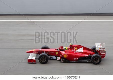 Felipe Massa on a high speed straight