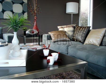 Relaxing Blue Living Room