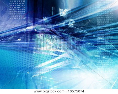 Abstract technology background, binary code
