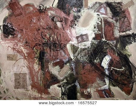 Mixed technics, Expression Abstract painting