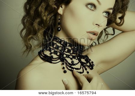 Beautiful woman. Fashion art photo