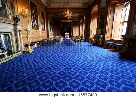 Interior from windsor castle, England. Royal residence of the queen.