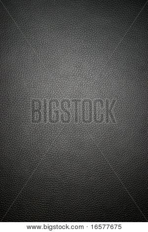 Schwarzes Leder - breit-Makro