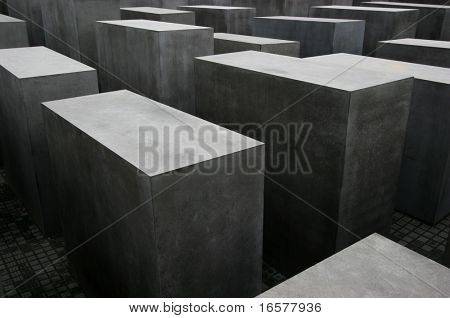 The holocaust memorial monument in Berlin Germany.