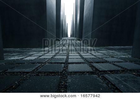 Foto simbólica el monumento del Holocausto en Berlín Alemania
