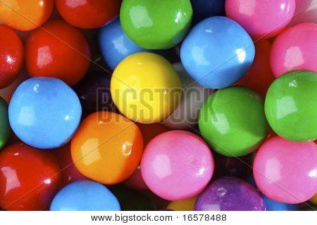 Multicolored bubble gum candy background