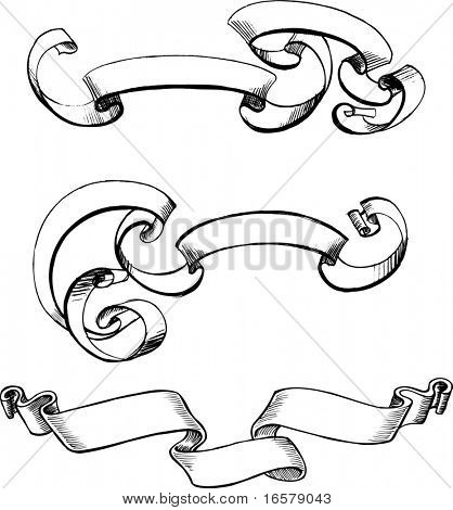 Scrolls Vector Illustration
