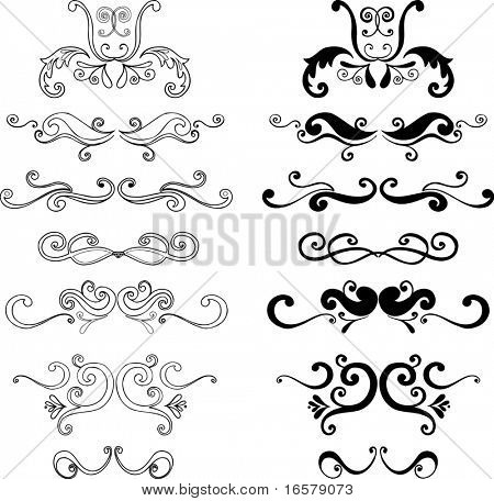 Ornaments 3 Vector Illustration