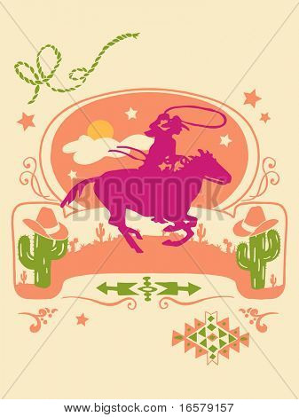 Western Poster- Vector Illustration