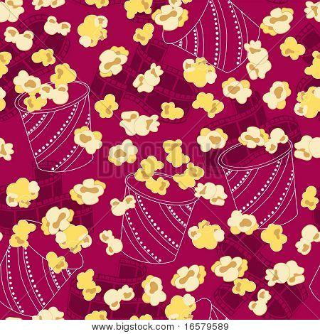 Popcorn-nahtlose wiederholen Muster-Vektor-Illustration