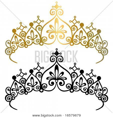 Princesa Tiara corona Vector Illustration