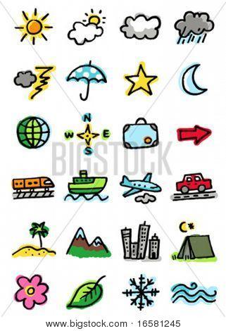 Iconos del tiempo, viajes, Turismo y naturaleza