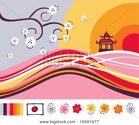 Japan entwickelt Landschaft