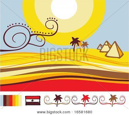 Paisaje de Egipto diseñado