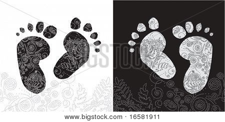 foot and pattern