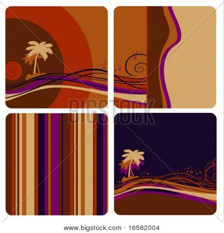 Designed exotic landscape - illustrations - colors