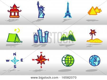 Tourism and world icons