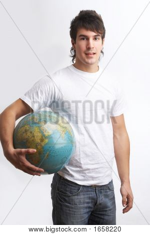 Globe Under His Arm