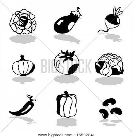 Gemüse-Symbole 1
