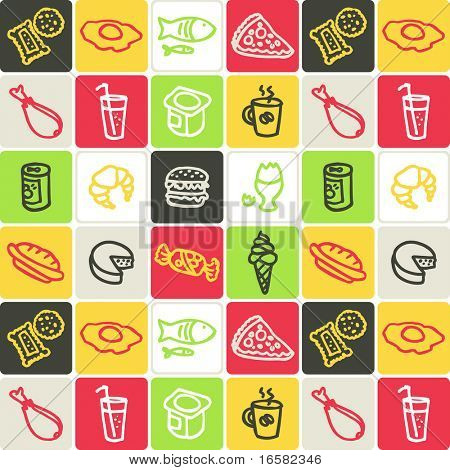 food check pattern - illustrations - icons set -